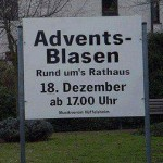 Advents-Blasen