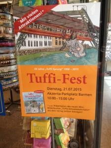 Tuffi-Plakat Schaufenster Buchhandlung Köndgen