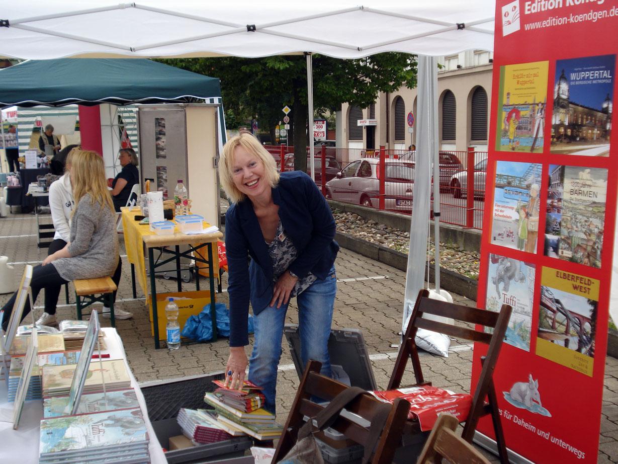 Autorin Manuela Sanne beim Tuffi-Fest