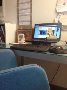 Taltexte Schreibtisch